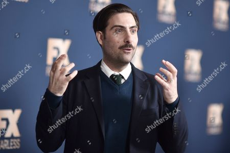 Stock Image of Jason Schwartzman poses at the the FX portion of theTelevision Critics Association Winter press tour, in Pasadena, Calif