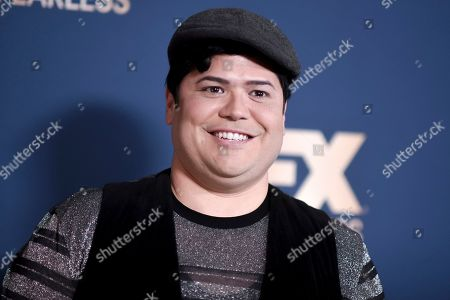Stock Image of Harvey Guillen poses at the the FX portion of theTelevision Critics Association Winter press tour, in Pasadena, Calif