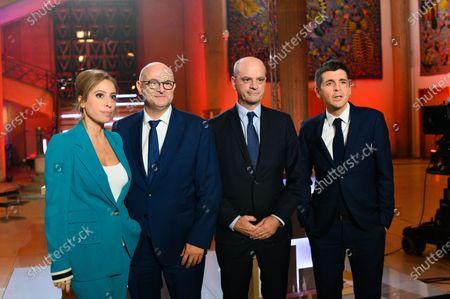 Lea Salame, Laurent Pietraszewski, Jean-Michel Blanquer and Thomas Sotto