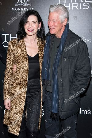 """Julianna Margulies, Richard Gere. Julianna Margulies and Richard Gere attend a screening of """"Three Christs"""", hosted by IFC Films and The Cinema Society, at Regal Essex Crossing on in New York"""
