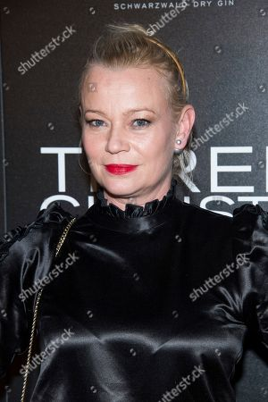 """Samantha Mathis attends a screening of """"Three Christs"""", hosted by IFC Films and The Cinema Society, at Regal Essex Crossing on in New York"""