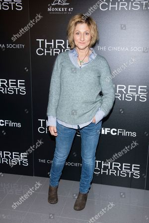 """Edie Falco attends a screening of """"Three Christs"""", hosted by IFC Films and The Cinema Society, at Regal Essex Crossing on in New York"""