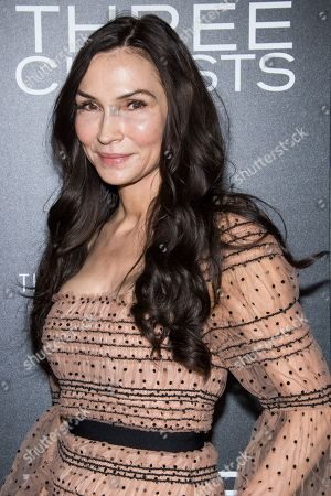 """Stock Image of Famke Janssen attends a screening of """"Three Christs"""", hosted by IFC Films and The Cinema Society, at Regal Essex Crossing on in New York"""