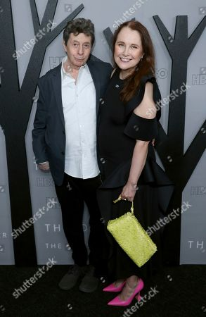 """Richard Price, Lorraine Adams. Richard Price, left, and Lorraine Adams attend the LA Premiere of """"The Outsider"""" at the Directors Guild of America, in Los Angeles"""