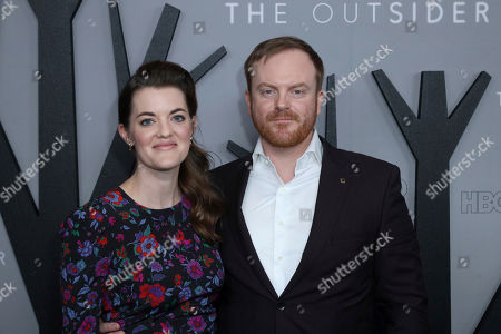 """Stock Image of Jeremy Bobb, right, and guest attend the LA Premiere of """"The Outsider"""" at the Directors Guild of America, in Los Angeles"""
