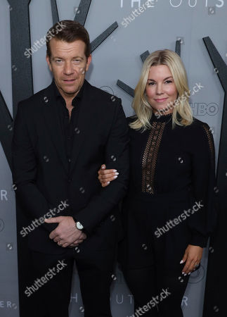 """Stock Picture of Max Beesley, Jennifer Beesley. Max Beesley, left, and Jennifer Beesley attend the LA Premiere of """"The Outsider"""" at the Directors Guild of America, in Los Angeles"""