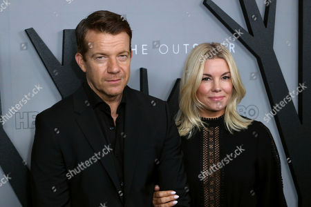 """Stock Photo of Max Beesley, Jennifer Beesley. Max Beesley, left, and Jennifer Beesley attend the LA Premiere of """"The Outsider"""" at the Directors Guild of America, in Los Angeles"""