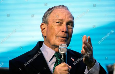 Democratic Presidential candidate and former New York City Mayor Michael Bloomberg gestures while taking part in an on-stage conversation with former California Gov. Jerry Brown at the American Geophysical Union fall meeting in San Francisco. In the battle for the Democratic presidential nomination, no prize is bigger than California, which offers more delegates than any other state. And as candidates plot their strategies here, there's an overlooked group of voters who could be key to victory: independents