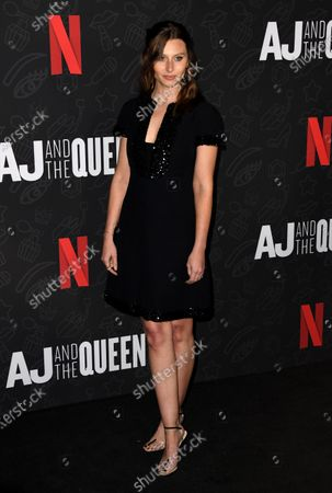 Stock Photo of Aly Michalka attends the premiere of Netflix's 'AJ and The Queen' at the Egyptian Theatre in Hollywood, California, USA, 09 January 2020.