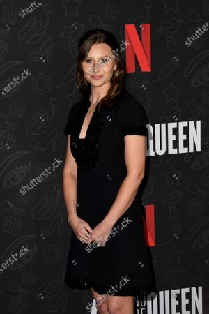 Stock Picture of Aly Michalka attends the premiere of Netflix's 'AJ and The Queen' at the Egyptian Theatre in Hollywood, California, USA, 09 January 2020.