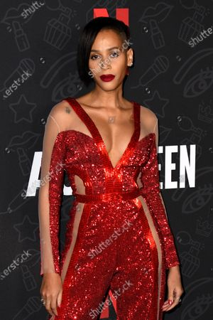 Isis King attends the premiere of Netflix's 'AJ and The Queen' at the Egyptian Theatre in Hollywood, California, USA, 09 January 2020.