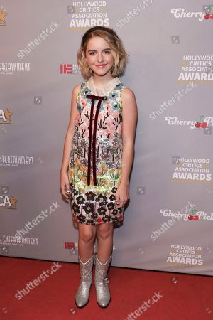 McKenna Grace attends the Hollywood Critics' Awards at the Taglyan complex on in Los Angeles