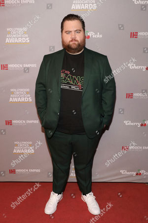 Stock Image of Paul Walter Hauser attends the Hollywood Critics' Awards at the Taglyan complex on in Los Angeles