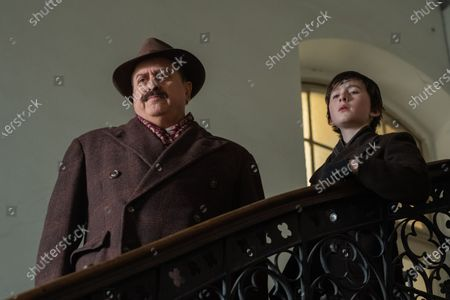 Stock Picture of Stanley Townsend as Gilbert and Luke Doyle as Dovidl 9-13