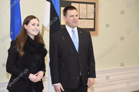 Editorial picture of Finnish Prime Minister Sanna Marin visit to Estonia - 10 Jan 2020