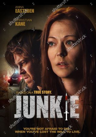 Junkie (2019) Poster Art. Christian Kane as Sheriff Corbin and Anna Easteden as June Taylor