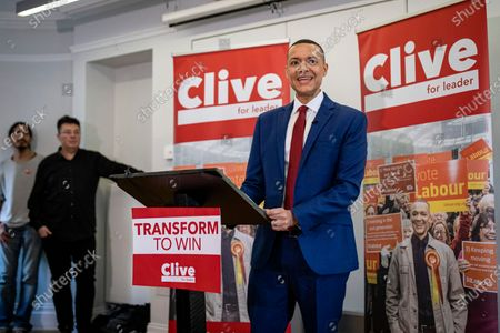 Stock Photo of Clive Lewis speaking at the Black Cultural Archives in Brixton to launch his campaign for Leader of the Labour Party.