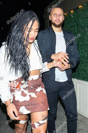 Editorial image of Ayesha Curry and Stephen Curry out and about, Los Angeles, USA - 10 Jan 2020