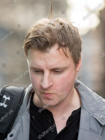 Former Police Officer Richard Williams leaves Southwark Crown Court today after sentencing.