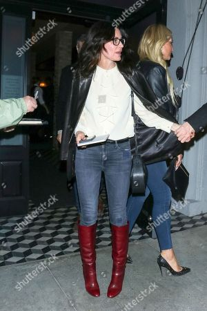 Editorial picture of Courteney Cox out and about, Los Angeles, USA - 10 Jan 2020