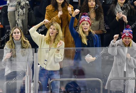 Stock Photo of Le Call and Jennifer Ohlsson attend New Jersey Devils vs New York Rangers game at Madison Square Garden
