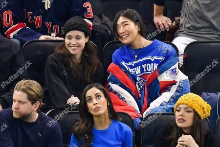 Editorial image of Celebrities at New Jersey Devils v New York Rangers NHL Ice Hockey match, Madison Square Garden, New York, USA - 09 Jan 2020