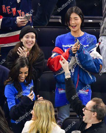 Editorial photo of Celebrities at New Jersey Devils v New York Rangers NHL Ice Hockey match, Madison Square Garden, New York, USA - 09 Jan 2020