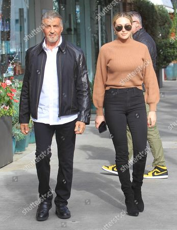 Sylvester Stallone and Sistine Rose Stallone