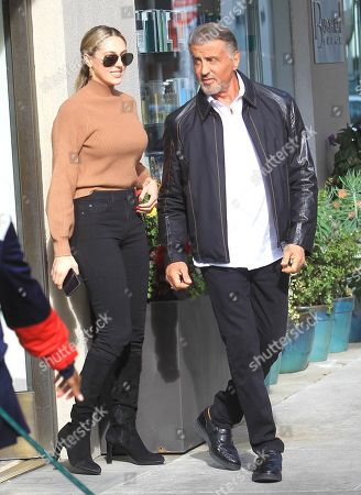 Stock Photo of Sylvester Stallone and Sistine Rose Stallone
