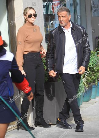Stock Picture of Sylvester Stallone and Sistine Rose Stallone