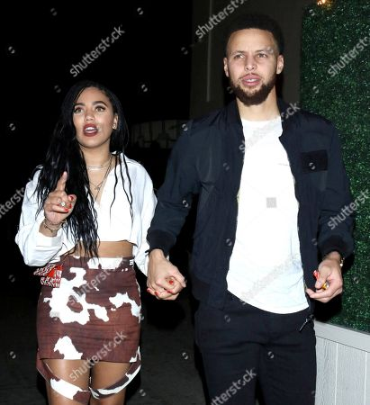 Stock Image of Ayesha Curry and Stephen Curry