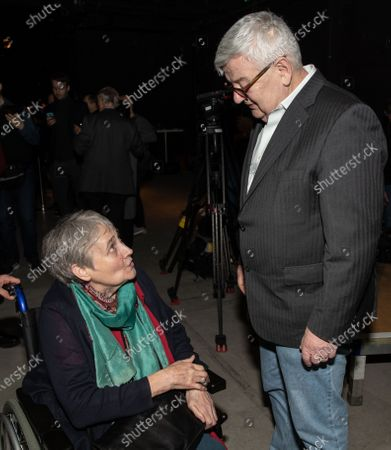 Former German Foreign Minister and Vice Chancellor and member of the Alliance90/The Greens party (Buendnis90/Die Gruenen) Joschka Fischer (R) and former member of the Alliance90/The Greens party (Buendnis90/Die Gruenen) Elisabeth Weber (L) attend the anniversary celebrations marking 30 and 40 years to the ALLIANCE 90/THE GREENS political parties, in Berlin, Germany, 10 January, 2020. The event celebrates 40 years to the German Green party (DIE GRUENEN) and 30 years to its former east German (GDR) sister party ALLIANCE 90 (BUENDIS 90).