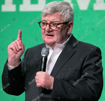 Former German Foreign Minister and Vice Chancellor and current member of the Alliance90/The Greens party (Buendnis90/Die Gruenen) Joschka Fischer speaks on stage during the anniversary celebrations marking 30 and 40 years to the ALLIANCE 90/THE GREENS political parties, in Berlin, Germany, 10 January, 2020. The event celebrates 40 years to the German Green party (DIE GRUENEN) and 30 years to its former east German (GDR) sister party ALLIANCE 90 (BUENDIS 90).