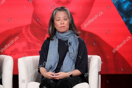 Grace Lee speaks at the Asian Americans panel during the PBS Winter 2020 TCA Press Tour at The Langham Huntington, Pasadena, in Pasadena, Calif