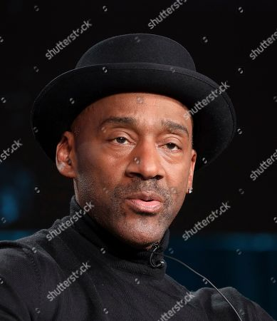 """Marcus Miller speaks at the American Masters """"Miles Davis: Birth of the Cool"""" panel during the PBS Winter 2020 TCA Press Tour at The Langham Huntington, Pasadena, in Pasadena, Calif"""