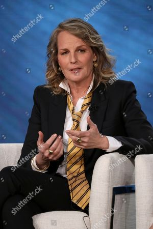 """Stock Image of Helen Hunt participates in the Masterpiece """"World on Fire"""" panel during the PBS Winter 2020 TCA Press Tour at The Langham Huntington, Pasadena, in Pasadena, Calif"""
