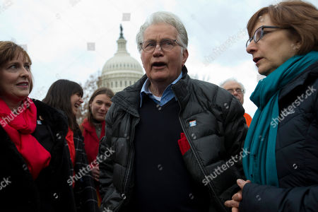 Actor Martin Sheen demonstrates during Fonda-Fire Drill Fridays rally, calling on Congress for action to address climate change on Capitol Hill in Washington
