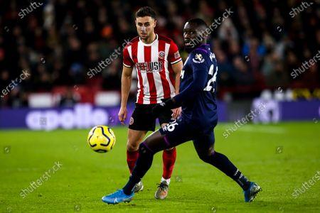 Winston Reid of West Ham United takes on Arthur Masuaku of West Ham United