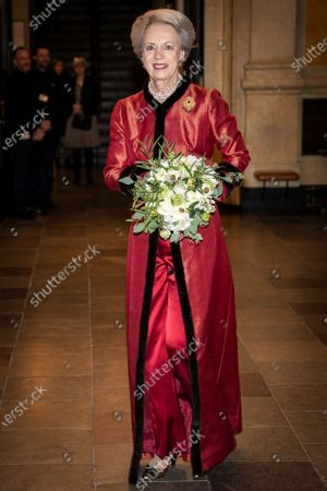 Danish Princess Benedikte arrives at the Royal Theater, where the government marks the 100th anniversary of a reunion with a gala in Copenhagen, Denmark, 10 January 2020. In 2020, it is 100 years since Southern Jutland was reunited with a peaceful referendum.