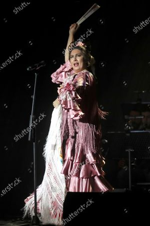 Spanish flamenco singer Estrella Morente performs on stage during her concert on occasion of the Inverfest music festival in Madrid, Spain, 10 January 2020, an event running from 09 January until 14 February.