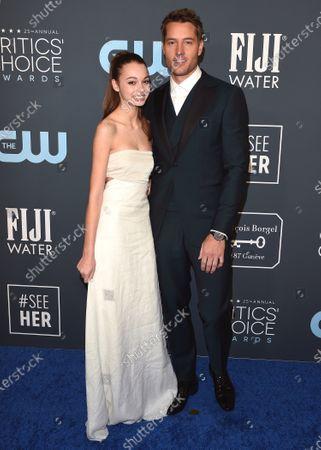 Justin Hartley and Isabella Hartley