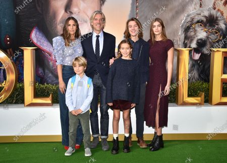 Stock Image of Stephen Gaghan, Minnie Mortimer and family