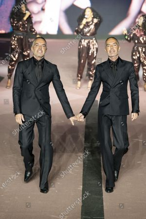Stock Picture of Dan Caten and Dean Caten on the catwalk