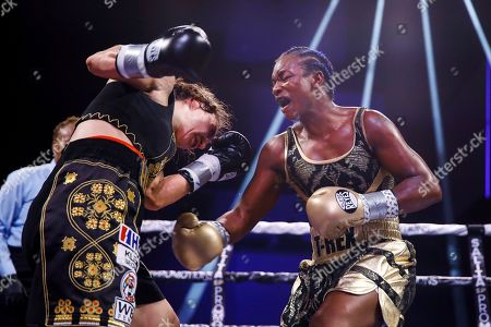 Claressa Shields, Ivana Habazin. Claressa Shields, right, fights with Ivana Habazin during the seventh round of a women's 154-pound title boxing bout in Atlantic City, N.J