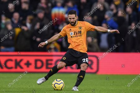 11th January 2020, Molineux, Wolverhampton, England; Premier League, Wolverhampton Wanderers v Newcastle United : Joao Moutinho (28) of Wolverhampton Wanderers in action during the game.Credit: Richard Long/News Images