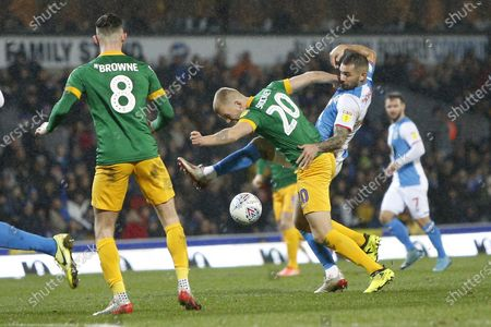 Editorial picture of Blackburn Rovers v Preston North End, EFL Sky Bet Championship, 110-1, goal scored by 2020 - 11 Jan 2020