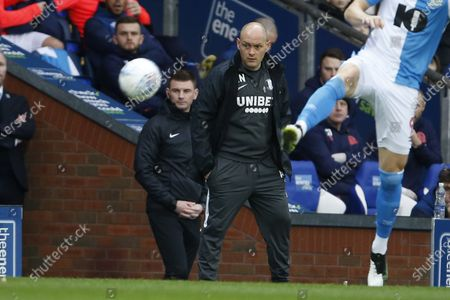 Alex Neil Manager of Preston North End during the EFL Sky Bet Championship match between Blackburn Rovers and Preston North End at Ewood Park, Blackburn