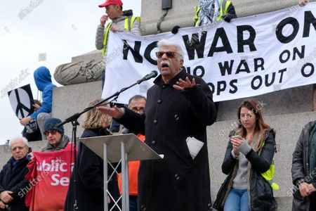 Editorial image of Don't Attack Iran protest, London, UK. - 11 Jan 2020