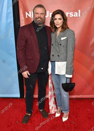 Stock Image of Tyler Labine and Janet Montgomery
