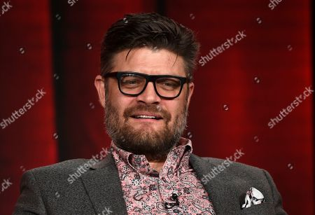 """Jay Ferguson, a cast member in the USA Network series """"Briarpatch,"""" takes part in a panel discussion on the show at the 2020 NBCUniversal Television Critics Association Winter Press Tour, Saturday, Jan.11, 2020, in Pasadena, Calif"""
